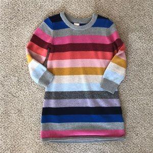 Gap girls crazy stripe sweater dress 3T